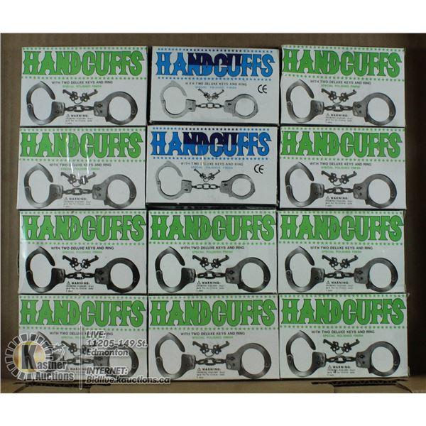 FLAT OF HANDCUFFS W/ KEYS
