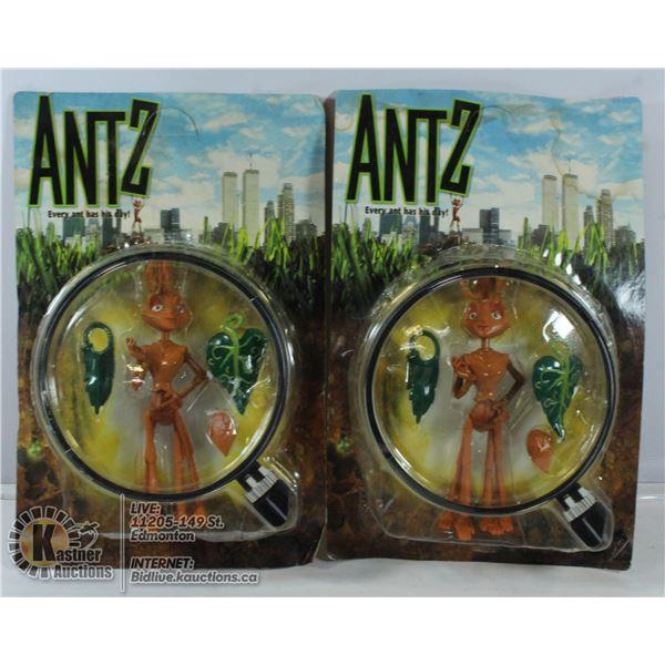 2 VINTAGE SEALED ANTZ PVC ACTION FIGURES
