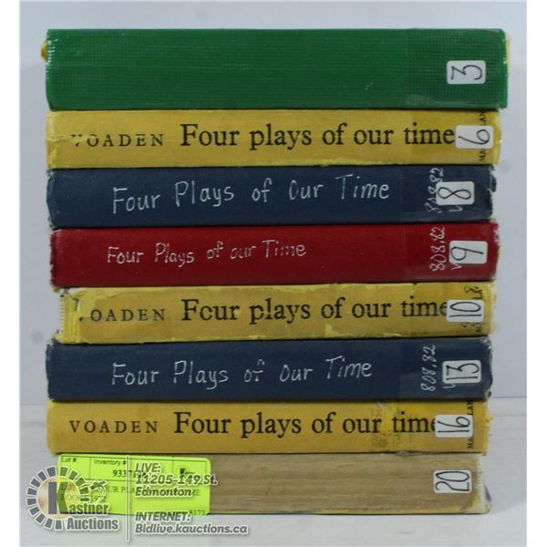 LOT OF 8 FOUR PLAYS OF OUR TIME BOOKS 1972