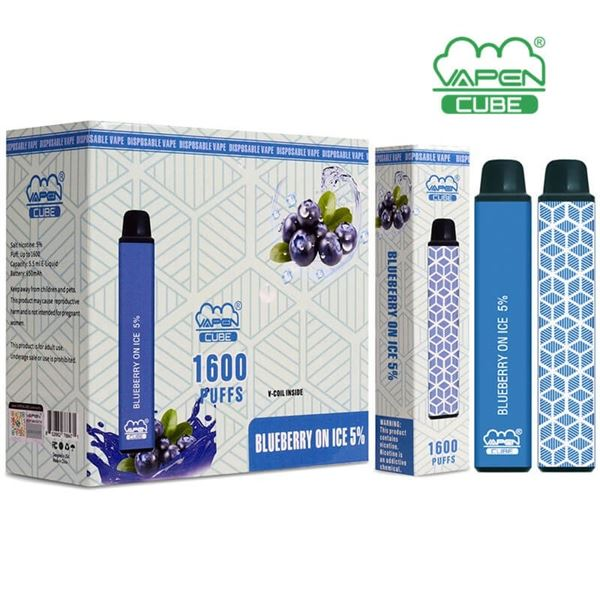 ONE 1600 PUFFS VAPEN CUBE 5% BLUEBERRY ON ICE