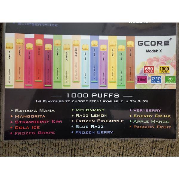 ONE GCORE 1000 PUFF 5% E-CIGARETTE PASSION FRUIT