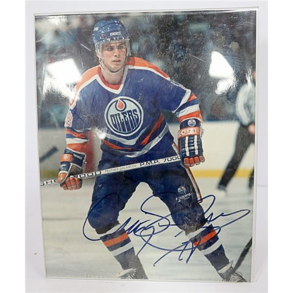 AUTOGRAPHED CRAIG SIMPSON OILERS PHOTO FROM