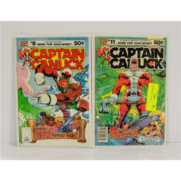 CAPTAIN CANUCK #9 & 11