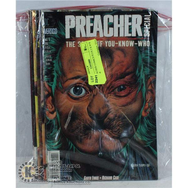 7 X PREACHER COMICS PLUS 2 X #1'S PILGRIM