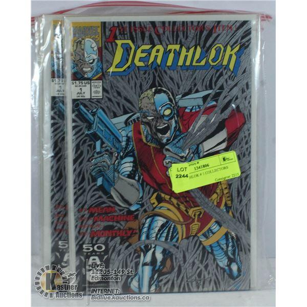 6 X DEATHLOK # 1 COLLECTORS COMICS