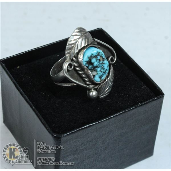 ANTIQUE EUROPEAN RING FROM 1875 .925 STERLING