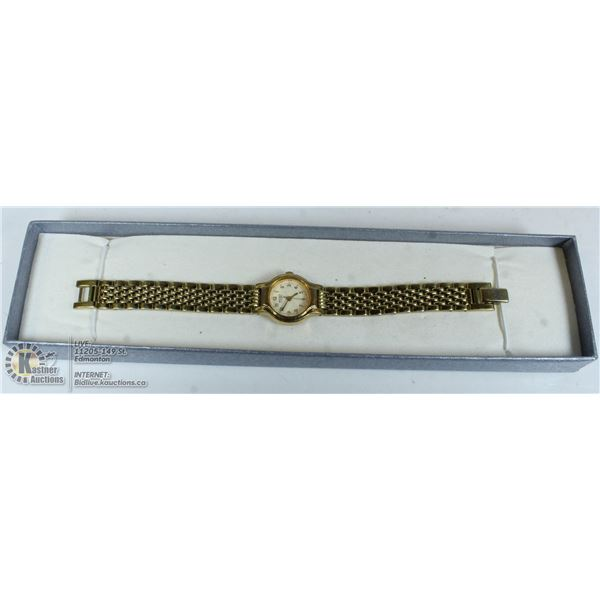 LADIES SEIKO 14K GOLD FILLED, GOLD PLATED WATCH