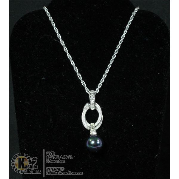 925 STERLING SILVER NECKLACE WITH A BRILLIANT