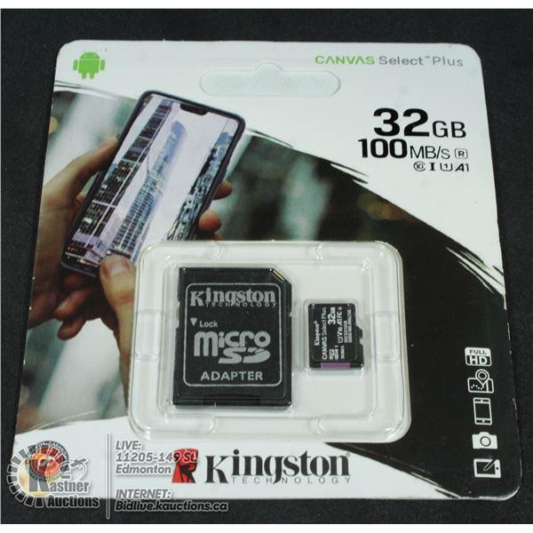 32GB KINGSTON SD CARD