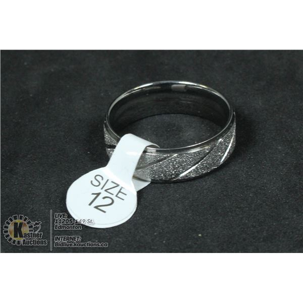 STERLING SILVER MENS RING SIZE 12