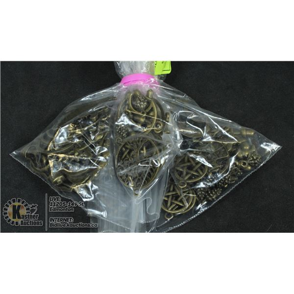 3  BAGS 1 OZ. OF PEWTER CHARMS
