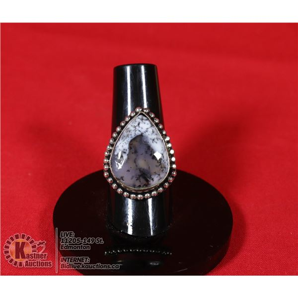 #48-DENDRITIC OPAL RING SIZE 6.5