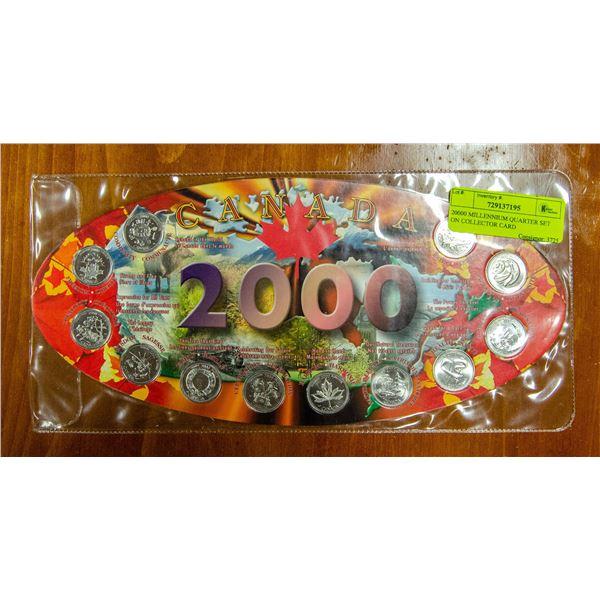 20000 MILLENNIUM QUARTER SET ON COLLECTOR CARD
