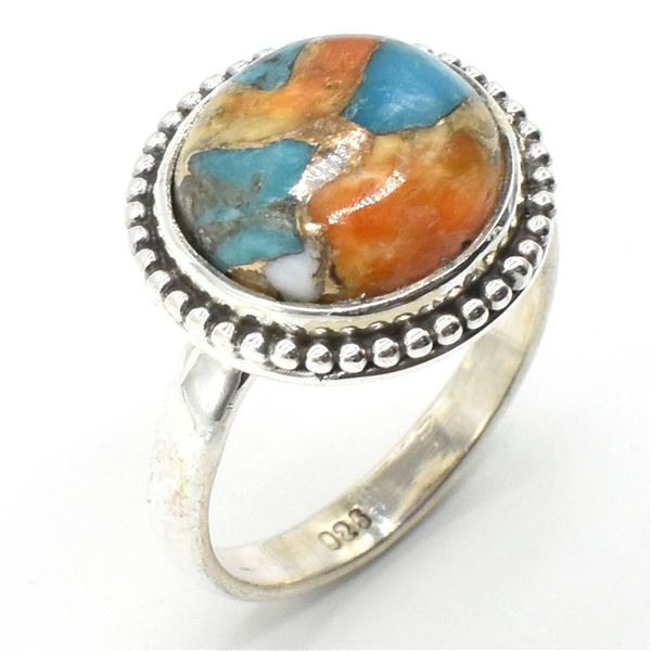 64TJ SILVER OSTER MUHAVE TURQUOISE RING