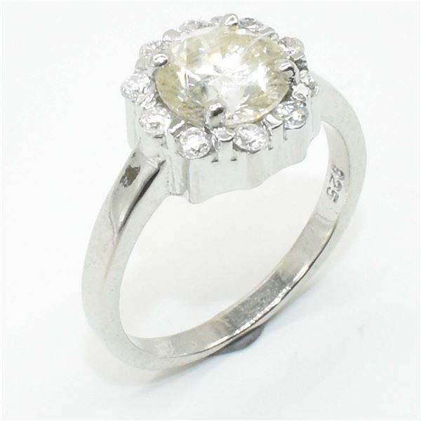 68TJ SILVER CIRTIFIED MOISSANITE (ROUND 7 & 2 MM)