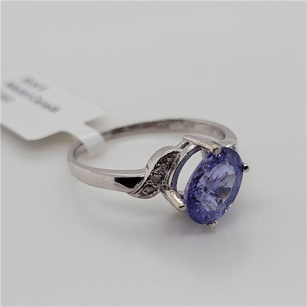 BZ337-11 10K  TANZANITE DIAMOND RING