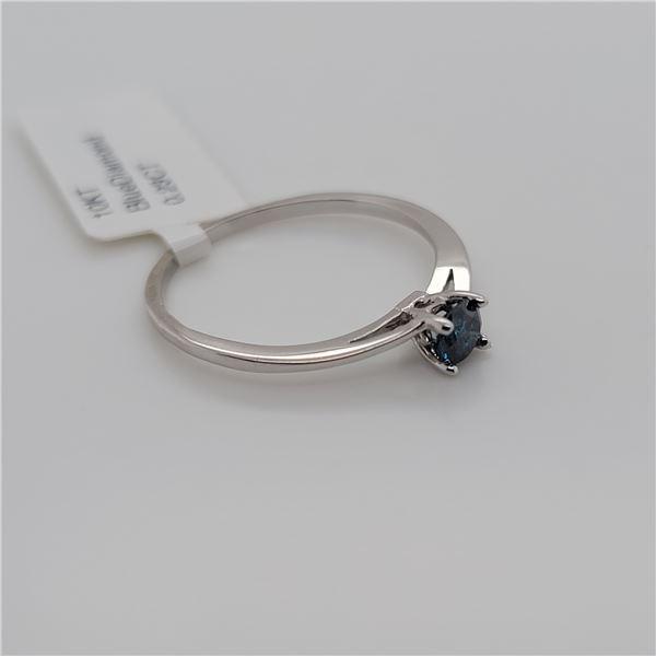 BZ337-15 10K  TREATED BLUE DIAMOND I1 RING