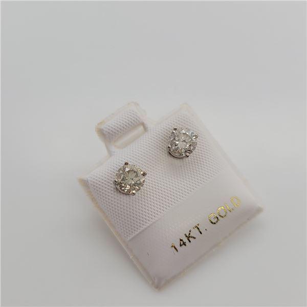 BZ337-27 14K  DIAMOND (1.02CT,SI,FANCY LIGHT YELLO