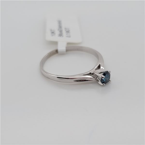 BZ337-32 10K  TREATED BLUE DIAMOND  RING