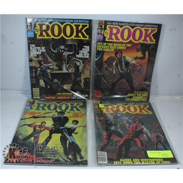 LOT OF 4 THE ROOK VINTAGE 1982 COMICS.