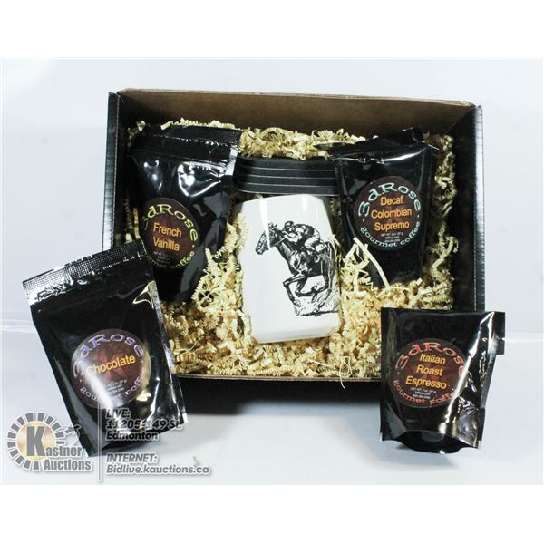3DROSE GIFT BOX WITH 4 FLAVOURS OF GOURMET COFFEE