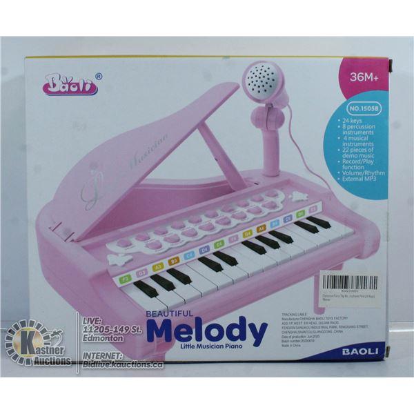 NEW BEAUTIFUL MELODY LITTLE MUSICIANS PIANO.