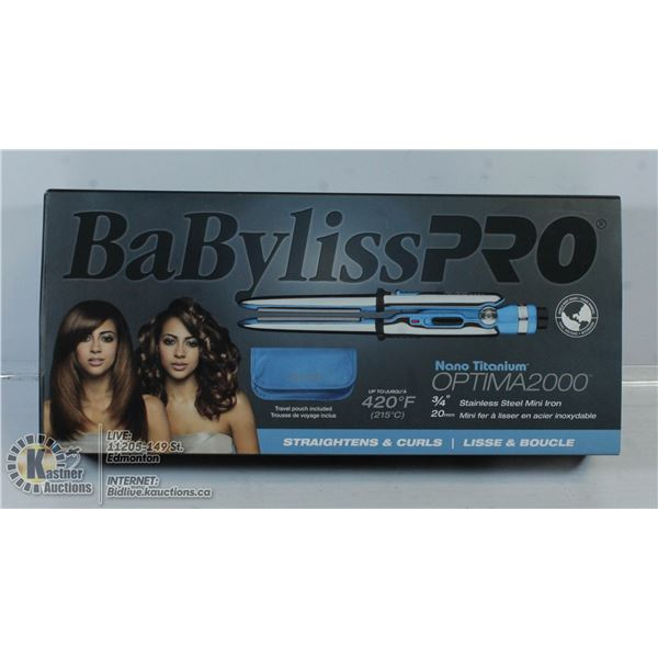 BABYLISS PRO OPTIMA2000 STRAIGHTENER/CURLER.