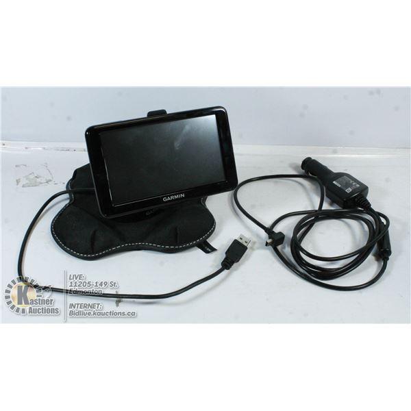 WEIGHTED BASE GARMIN GPS NAVIGATION SYSTEM.