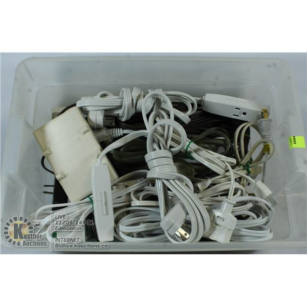 TOTE OF EXTENTION CORDS.