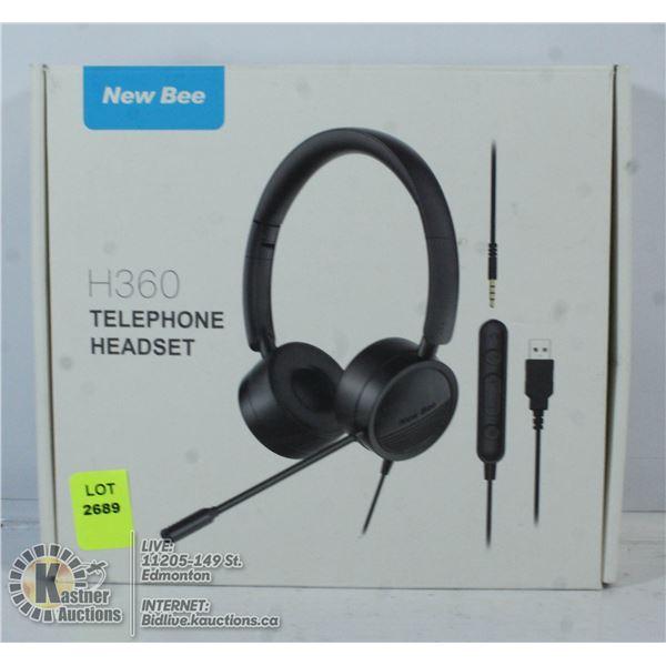 NEW BEE H360 TELEPHONE HEADSET.