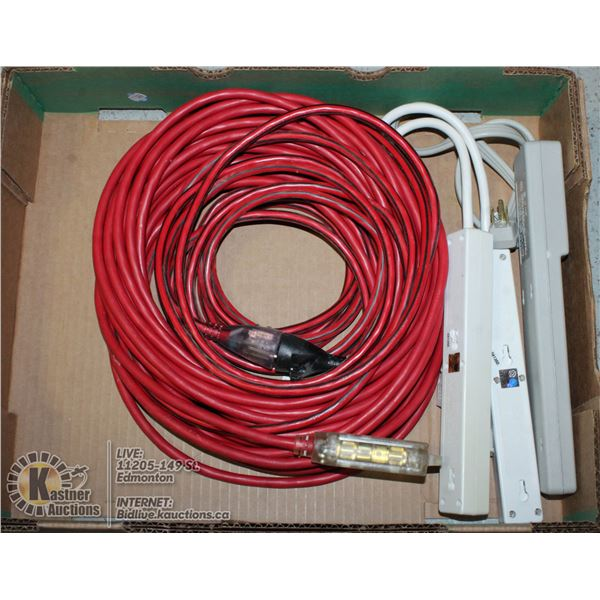 FLAT OF EXTENTION CORDS.