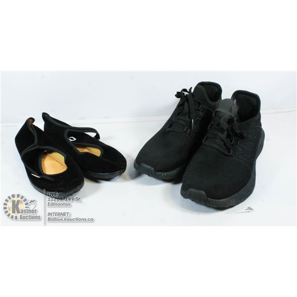 2 PAIRS OF SHOES SIZE 42 AND 6.