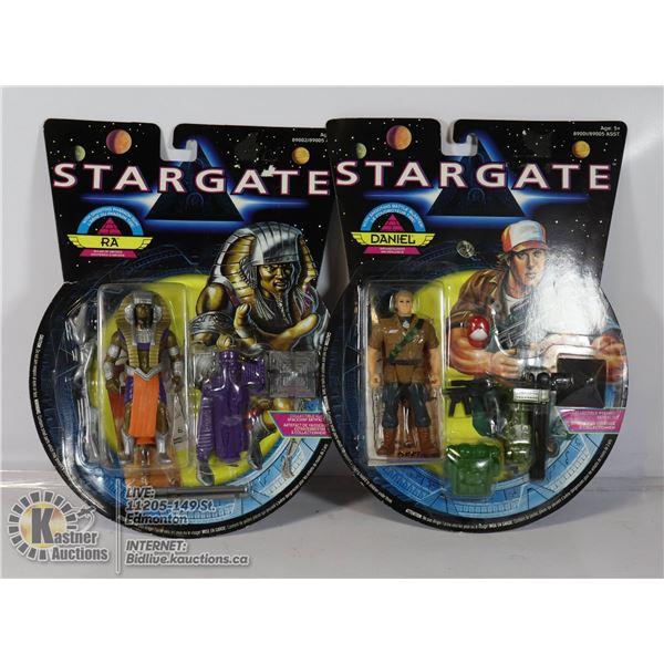 "2 X STARGATE 1994 ""RA"" & ""DANIEL"" ACTION FIGUR"