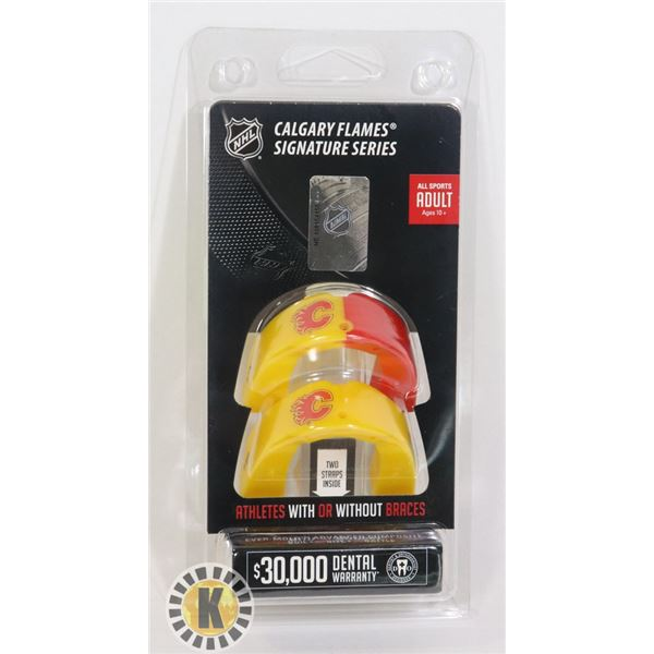 NEW NHL CALGARY FLAMES LICENSED 2PC HOCKEY MOUTH