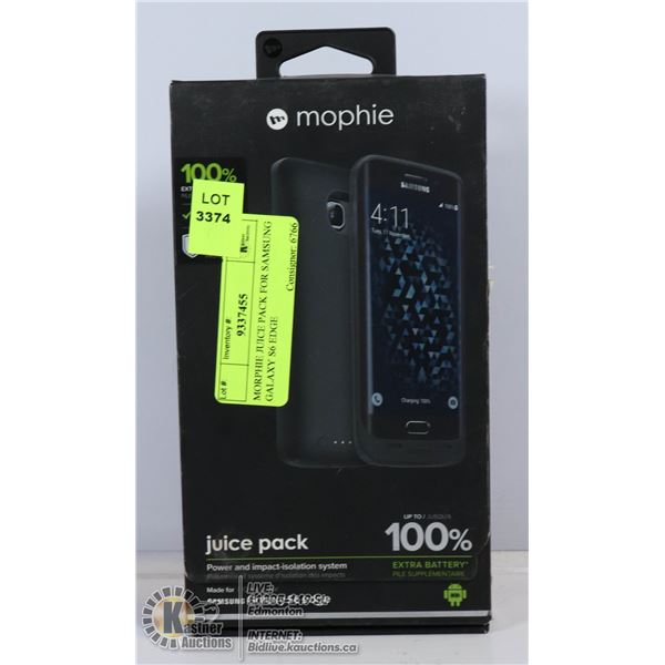 MORPHIE JUICE PACK FOR SAMSUNG GALAXY S6 EDGE