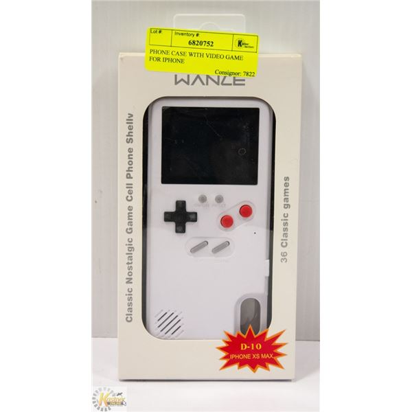 PHONE CASE WITH VIDEO GAME FOR IPHONE