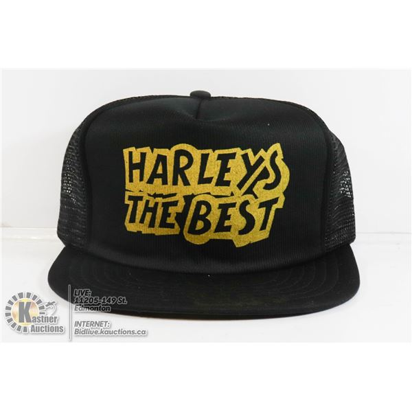 """NEW HAT """"HARLEYS THE BEST....F*** THE REST"""""""