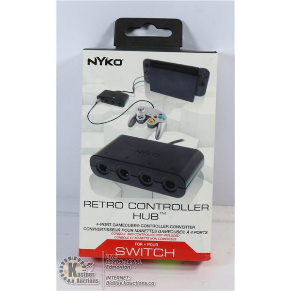 NEW NYKO RETRO CONTROLLER HUB 4 PORT FOR SWITCH