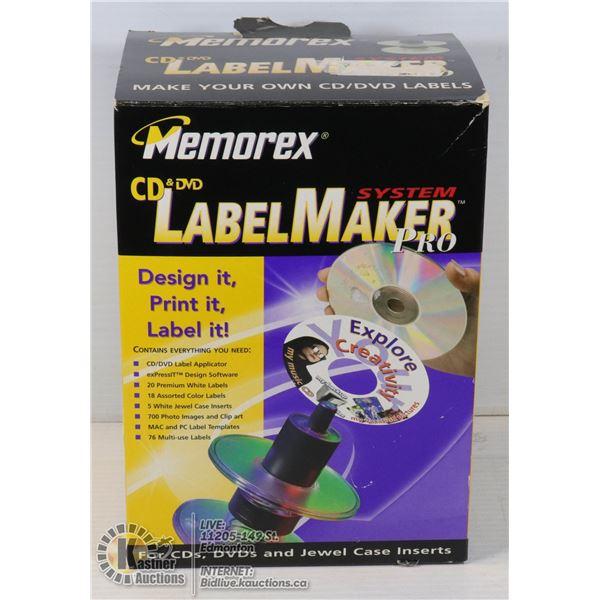 MEMOREX CD/DVD LABELMAKER SYSTEM