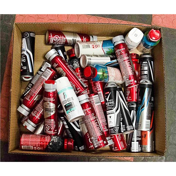 FLAT LOT OF VARIOUS KINDS OF DRY AND BODY SPRAY