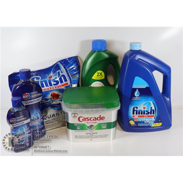 """FINISH"" BRAND DISHWASHER CLEANING SUPPLIES BOX"