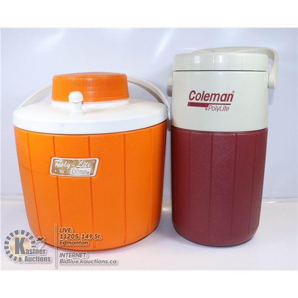 COLEMAN WATER JUGS - 1 GALLON ORANGE POLY LITE