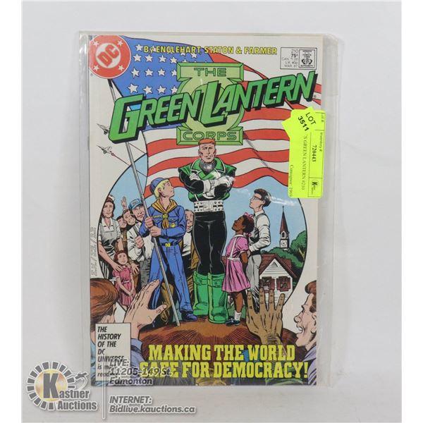 DC COMICS GREEN LANTERN #210