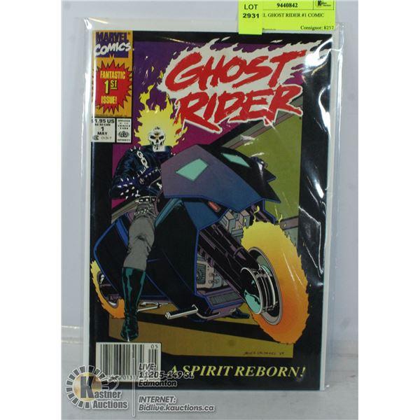 MARVEL GHOST RIDER #1 COMIC 1990