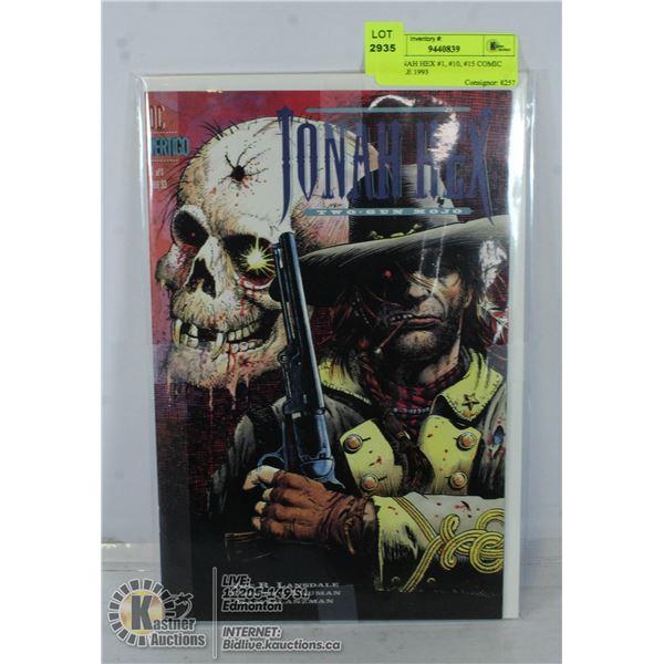 DC JONAH HEX #1, #10, #15 COMIC BUNDLE 1993