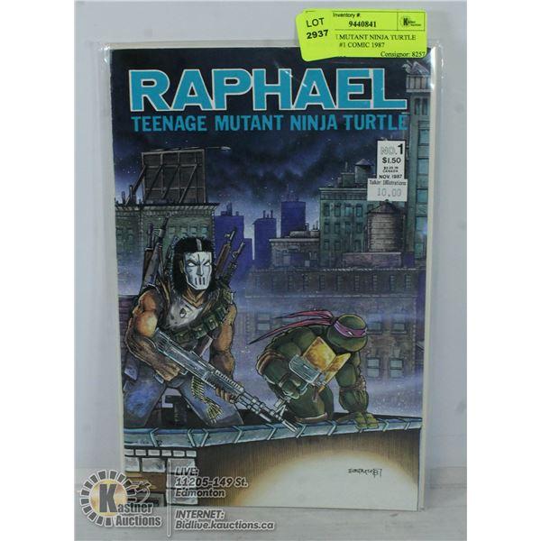 TEENAGE MUTANT NINJA TURTLE RAPHAEL #1 COMIC 1987