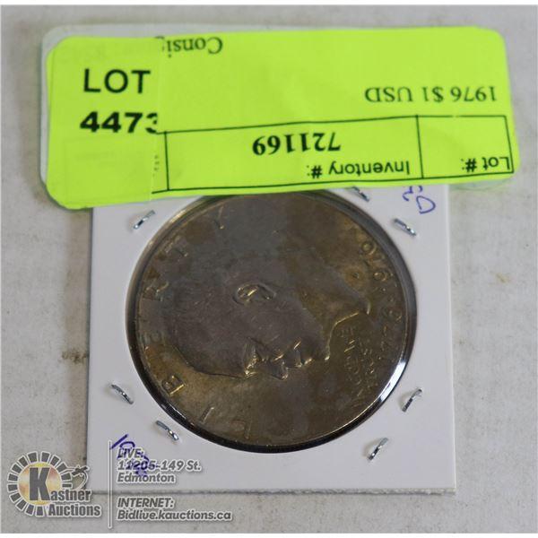 1976 $1 USD