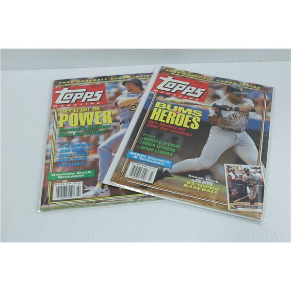 SUMMER+FALL 1992 TOPPS UNCUT BASEBALL CARDS INSIDE