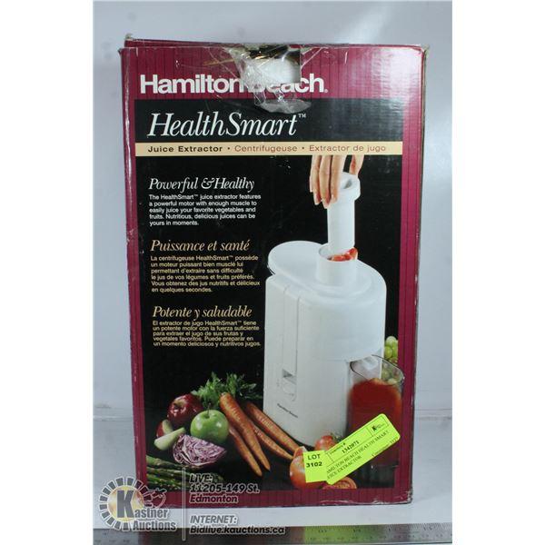 HAMILTON BEACH HEALTH SMART JUICE EXTRACTOR