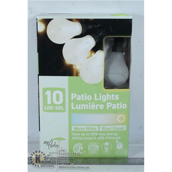 MY PATIO 10 LED LIGHT STRING